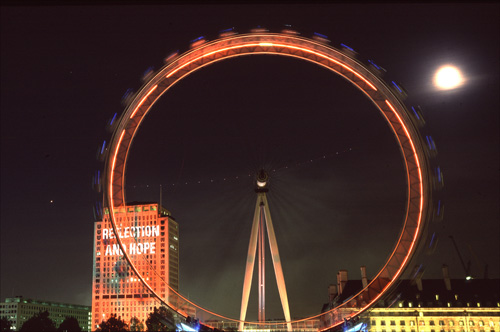 The Eye at night.