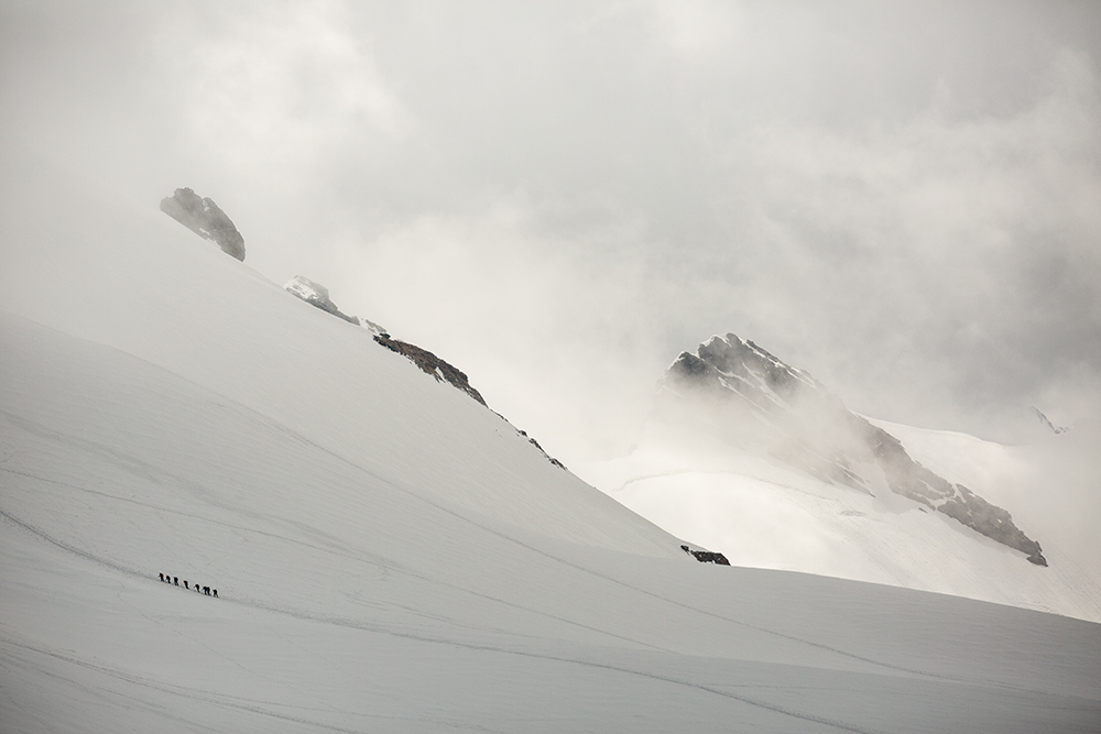 Up against the elements, Breithorn.