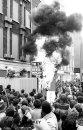 Burning US flag in Molesworth Street