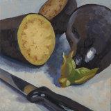 Aubergines balanced 15 x 15 cm