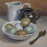 Two Jugs and eggs Oil 20 x 20 SOLD