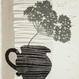 Striped jug. Monoprint.