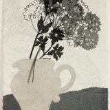 Little grey jug. Monoprint.