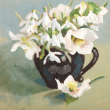 Snowdrops and White Hellebores SOLD