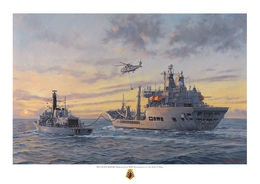 RFA Wave Knight replenishes HMS Westminster