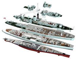 HMS Amethyst (cutaway)