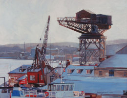 Hammerhead crane in the snow