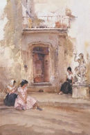 Ancient Doorway by Sir William Russell Flint