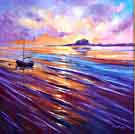 Sun Behind the Clouds - Bamburgh Castle, Northumberland (Sold)