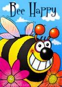 Bee Happy - Greetings card
