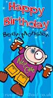 Beer Monster - Greetings card