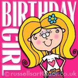 Birthday Girl - Greetings card