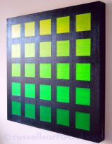 Five x Five Green Nocturne - Acrylic on canvas