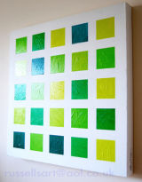 Five x Five Green - Acrylic on canvas