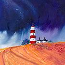 Happisburgh Lighthouse - Oil Pastel & Acrylic