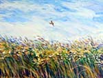 Lark Descending - Acrylic on canvas