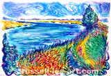 Tales From The Riverbank - Oil Pastel Print