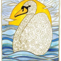 Gatehouse swan