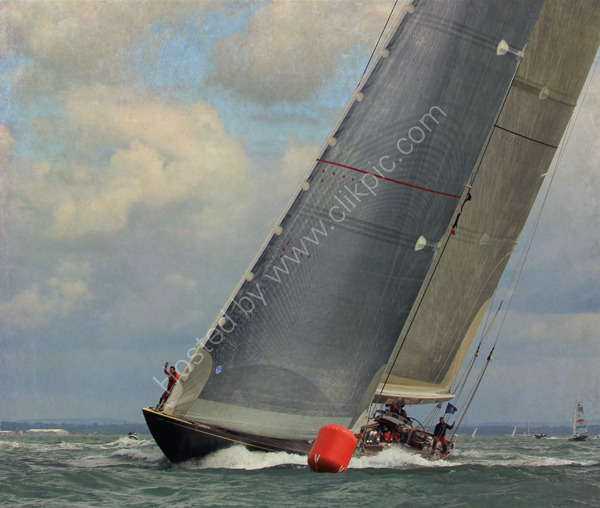 Velsheda -rounding the mark ( Solent)