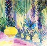 Majorelle Gardens - Yellow pot  (2)