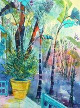Majorelle Garden - Marrakech, Yellow Pot - SOLD