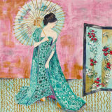 The Green Klimt Dress - SOLD