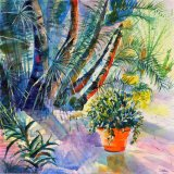 Majorelle Gardens - Orange pot - SOLD