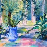 Majorelle Gardens - Blue pot