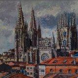 Catedral de Burgos (73x60cms / Óleo sobre lienzo / Precio aprox 600 Euros)