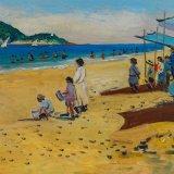 Escenas de playa 12 (35x27cms / Óleo sobre tabla / Precio aprox 495 Euros)