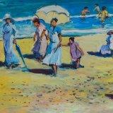 Escenas de playa 13 (35x27cms / Óleo sobre tabla / Precio aprox 495 Euros)