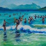 Escenas de playa 15 (35x27cms / Óleo sobre tabla / Precio aprox 495 Euros)
