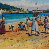 Escenas de playa 16 (35x27cms / Óleo sobre tabla / Precio aprox 495 Euros)