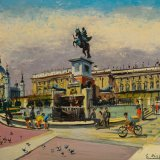 Plaza de Oriente (36x30cms / Óleo sobre tabla / Precio aprox 350 Euros)