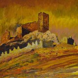 Castillo de Osuna, Soria (92x61cms / Óleo sobre lienzo / Precio aprox 1845 Euros)