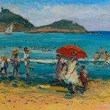 Escenas de playa 17 (35x27cms / Óleo sabre tabla / Precio aprox 495 Euros)