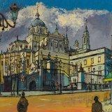 Catedral de la Almudena (41x33cms / Óleo sobre tabla / Precio aprox 370 Euros)