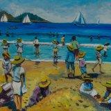 Escenas de playa 18 (35x27cms / Óleo sobre tabla / Precio aprox 495 Euros)