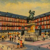 Plaza Mayor (35x27cms / Óleo sobre tabla / Precio aprox 370 Euros)