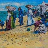 Escenas de playa 19 (35x27cms / Óleo sobre tabla / Precio aprox 495 Euros)