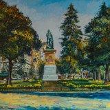 Monumento a Murillo(81x73cms / Óleo sobre lienzo / Precio aprox 2100 Euros)