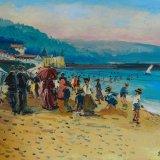 Escenas de playa 1 (35x27cms / Óleo sobre tabla / Precio aprox 495 Euros)