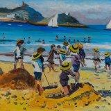 Escenas de playa 20 (35x24cms / Óleo sobre tabla / Precio aprox 495 Euros)