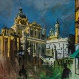 Catedral de la Almudena (116x89cms / Óleo sobre lienzo / Precio aprox 7400 Euros)