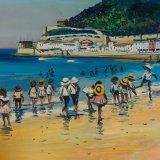 Escenas de playa 2 (35x25,9cms / Óleo sobre tabla / Precio aprox 495 Euros)