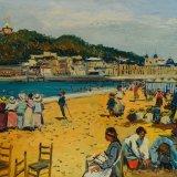 Escenas de playa 4 (35x25,4cms / Óleo sobre tabla / Preci oaprox 495 Euros)