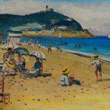 Escenas de playa 7 (35x27cms / Óleo sobre tabla / Precio aprox 495 Euros)