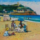 Escenas de playa 8 (35x27cms / Óleo sobre tabla / Precio aprox 495 Euros)