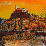 Castillo de Biar, Alicante (61x50cms / Óleo sobre lienzo / Precio aprox 625 Euros)