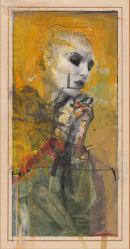 'AN ANGEL ADORING' BY DAVID V JOHNSON (PRINT)